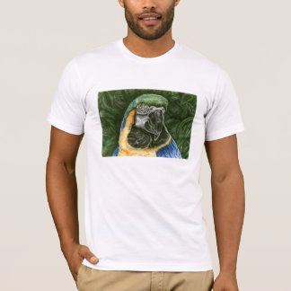 Blue and Gold Macaw Men's AA  Fitted Shirt