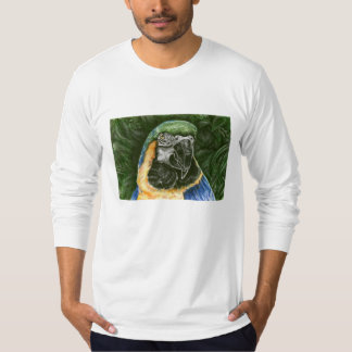Blue and Gold Macaw Men's AA Long Sleeve T Shirts