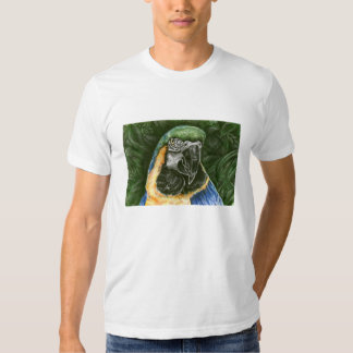 Blue and Gold Macaw  Men's American Apparel Shirt