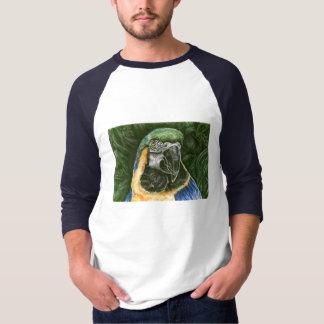 Blue and Gold Macaw Men's basic 3/4 Raglan Shirts