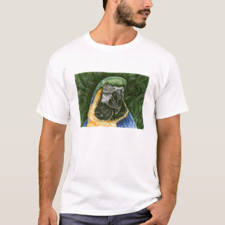 Blue and Gold Macaw Men's Ringer T-shirt