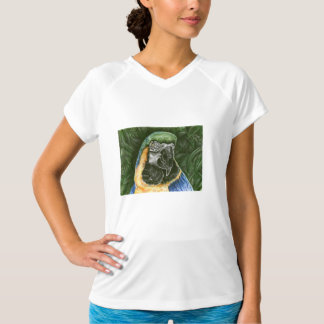 Blue and Gold Macaw microfiber sleeveless T-Shirt