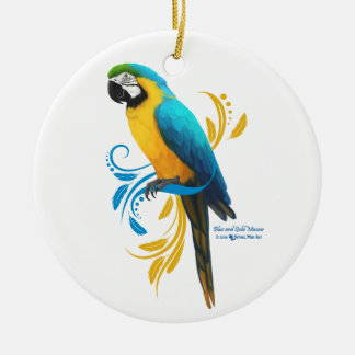 Blue and Gold Macaw Ornament