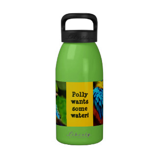 Blue and Gold Macaw Photo Drinking Bottle
