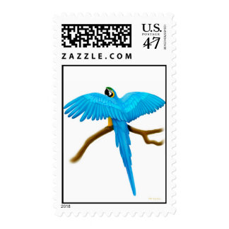 Blue and Gold Macaw Postage