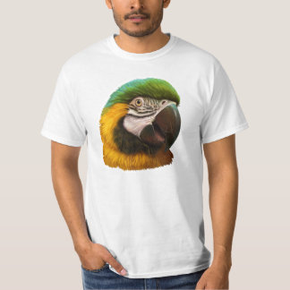 Blue and gold macaw realistic painting T-Shirt