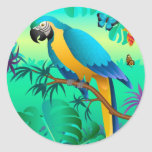 blue and gold macaw sticker