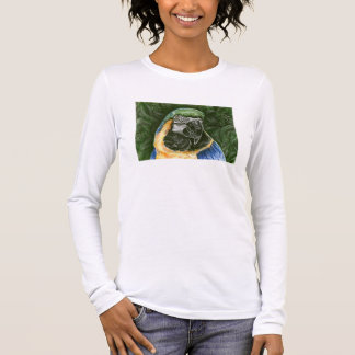 Blue and Gold Macaw Wom. Fitted  Long Sleeve Shirt