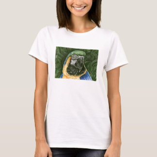 Blue and Gold Macaw Woman's babydoll T T-Shirt
