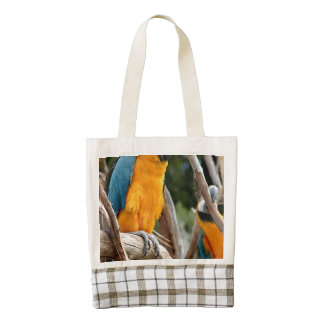 Blue And Gold Macaw Zazzle HEART Tote Bag