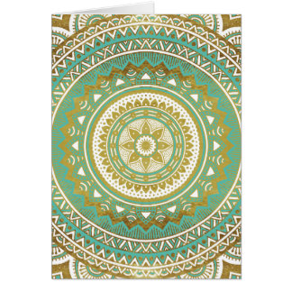 Blue and gold madala card