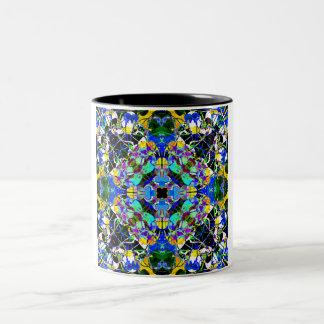 Blue And Gold Mandala Two-Tone Coffee Mug