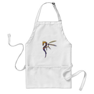 Blue and Gold Metal Dragon Adult Apron