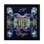 Blue and Gold Monogram Zodiac Sign Virgo Gift Box