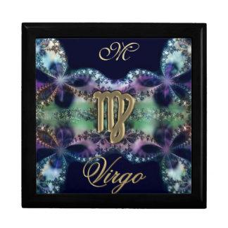 Blue and Gold Monogram Zodiac Sign Virgo Gift Box