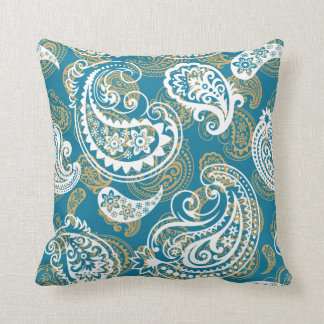 Blue and gold pillows blue and gold throw pillows zazzle for Blue and gold pillows