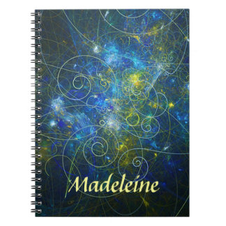 Blue and Gold Personalized Spiral Notebook