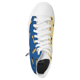 Blue and Gold Pinewood Derby Shoes Printed Shoes