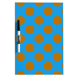 Blue and Gold Polkadots Dry-Erase Whiteboard