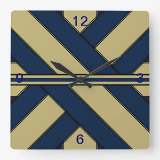 Blue and Gold Present Clock