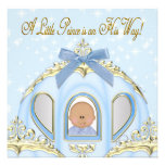 Blue and Gold Prince African American Baby Shower Personalized Invite