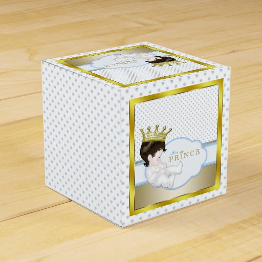 Blue Lightning Favor Boxes : Blue and gold prince baby shower favor box zazzle