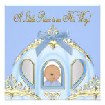 Blue and Gold Prince Baby Shower Invitations