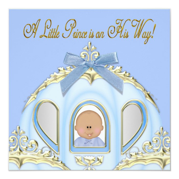 blue and gold prince baby shower invitations zazzle