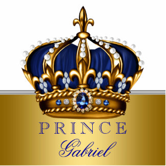 Blue and Gold Prince Baby Shower Photo Cutout