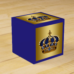 Blue and Gold Prince Favor Box