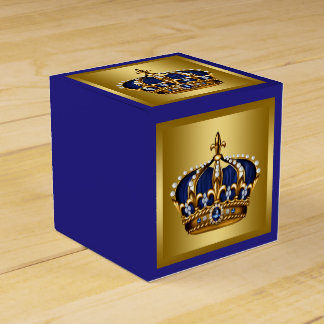 Blue and Gold Prince Party Favor Box