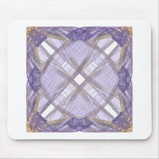 Blue and Gold Ribbon Fractal Art Square Mouse Pad
