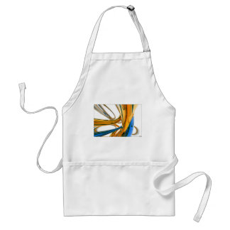 Blue And Gold Rings Adult Apron