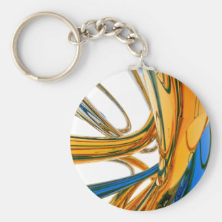 Blue And Gold Rings Keychains