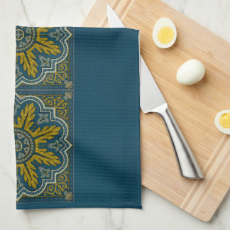 Blue and Gold Star Point Deco Towel