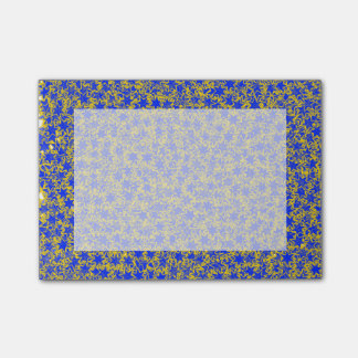 Blue and Gold Star Team Spirit Sports Colors Post-it Notes