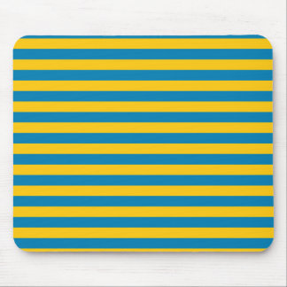 Blue and Gold Stripes Mousepad