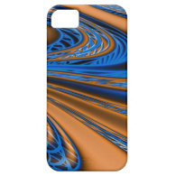 Blue and Gold Swirls iPhone 5 Covers