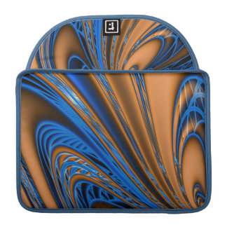Blue and Gold Swirls Sleeve For MacBook Pro