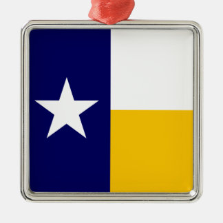 Blue and Gold Texas Flag Metal Ornament
