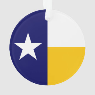 Blue and Gold Texas Flag Ornament