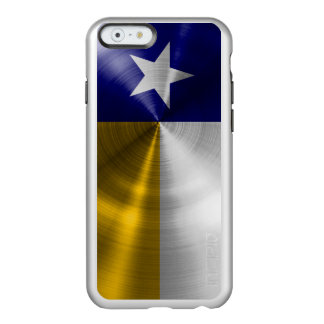 Blue and Gold Texas Flag Radial Brushed Incipio Feather® Shine iPhone 6 Case