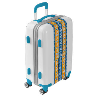 Blue and Gold Tribal Design Luggage