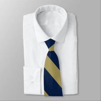 Blue and Gold University Stripe Neck Tie