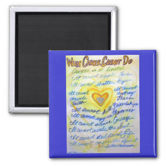 Blue and Gold What Cancer Cannot Do Heart Magnet