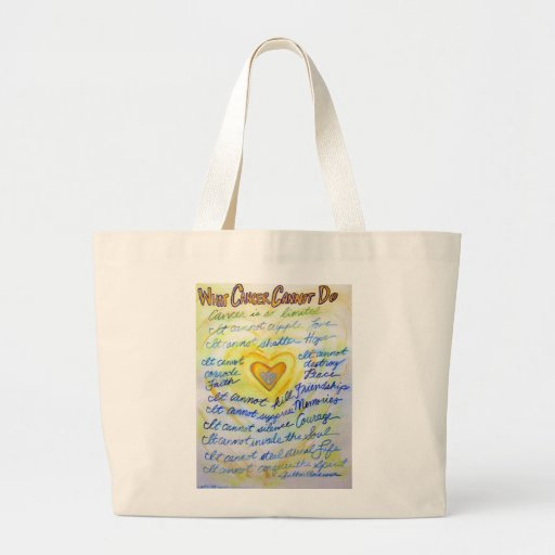 Blue and Gold What Cancer Cannot Do Tote Bag