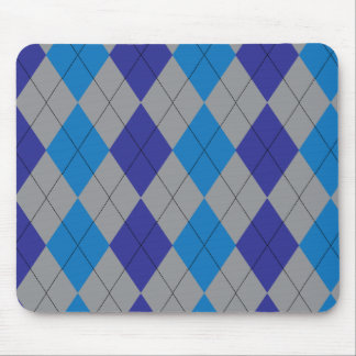 Blue and Gray Argyle Mousepad