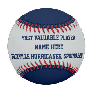 Blue and Gray Baseball, MVP Player Award Baseball