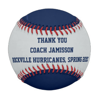 Blue and Gray Baseball, Thank You to Coach Baseball