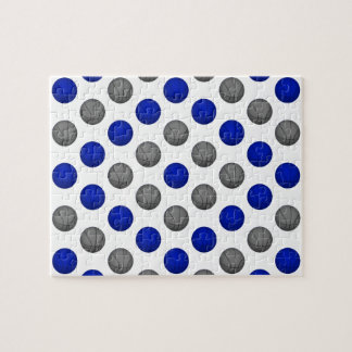 Blue and Gray Basketball Pattern Jigsaw Puzzle
